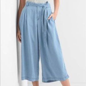 🏷CHAMBRAY CROP WIDE LEGS